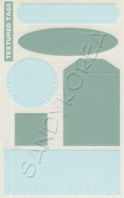 MG-Textured Tags, Blue/Green 1